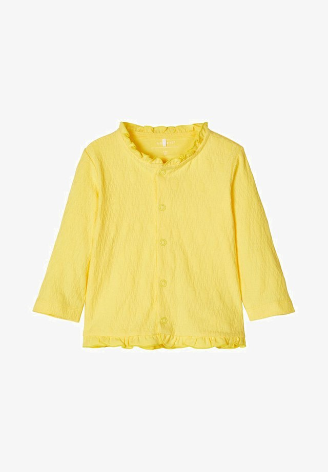 STRICKJACKE BAUMWOLL - Vest - aspen gold