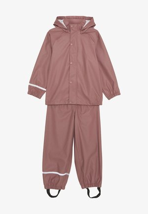 NKNDRY RAIN SET - Rain trousers - wistful mauve