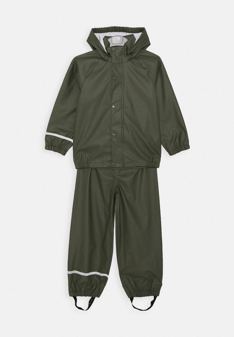 Name it - NKNDRY RAIN SET - Kalhoty do deště - thyme