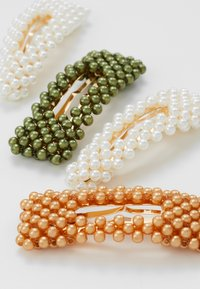 Name it - NKFACC HEARLICOL HAIRCLIPS 5 PACK - Haar-Styling-Accessoires - green gables/gold - 2