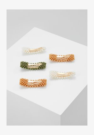 NKFACC HEARLICOL HAIRCLIPS 5 PACK - Haar-Styling-Accessoires - green gables/gold