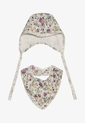 NBNFAMEE HAT SCARF BIB BABY SET - Bonnet - whisper white
