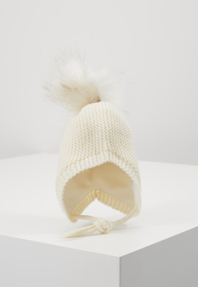 NBFMANU HAT - Beanie - snow white