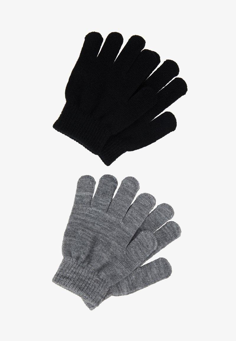 Name it - NKNMAGIC GLOVES 2 PACK - Fingerhandschuh - black/grey