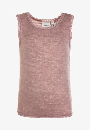 NMFWANG NEEDLE TANK TOP - Aluspaita - woodrose