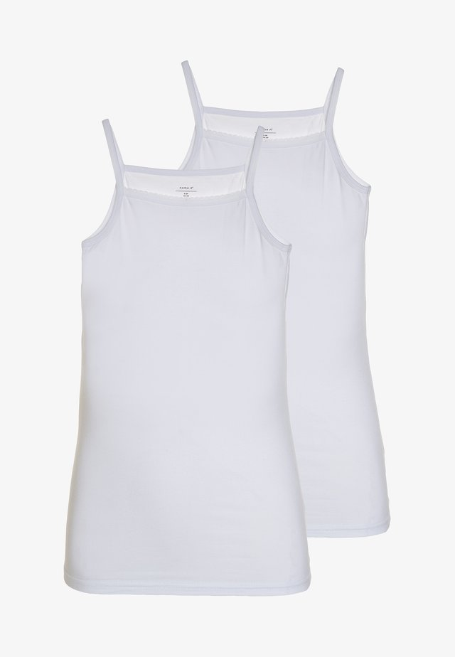 NKFSTRAP TOP 2 PACK  - Unterhemd/-shirt - bright white