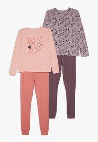 Name it - NKFLUCANA NIGHT 2 PACK - Pyjama set - silver pink - 0