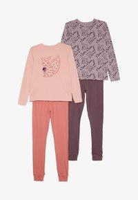 Name it - NKFLUCANA NIGHT 2 PACK - Pyjama set - silver pink - 5