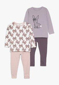 Name it - NMFLUFIE NIGHT 2 PACK - Pyjama set - sea fog/silver pink - 0
