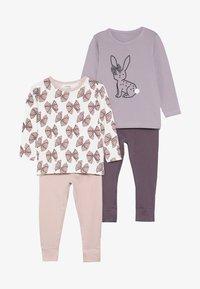 Name it - NMFLUFIE NIGHT 2 PACK - Pyjama set - sea fog/silver pink - 6