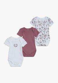 Name it - NBFBODY FLOWER 3 PACK - Pyjama - heather rose - 0