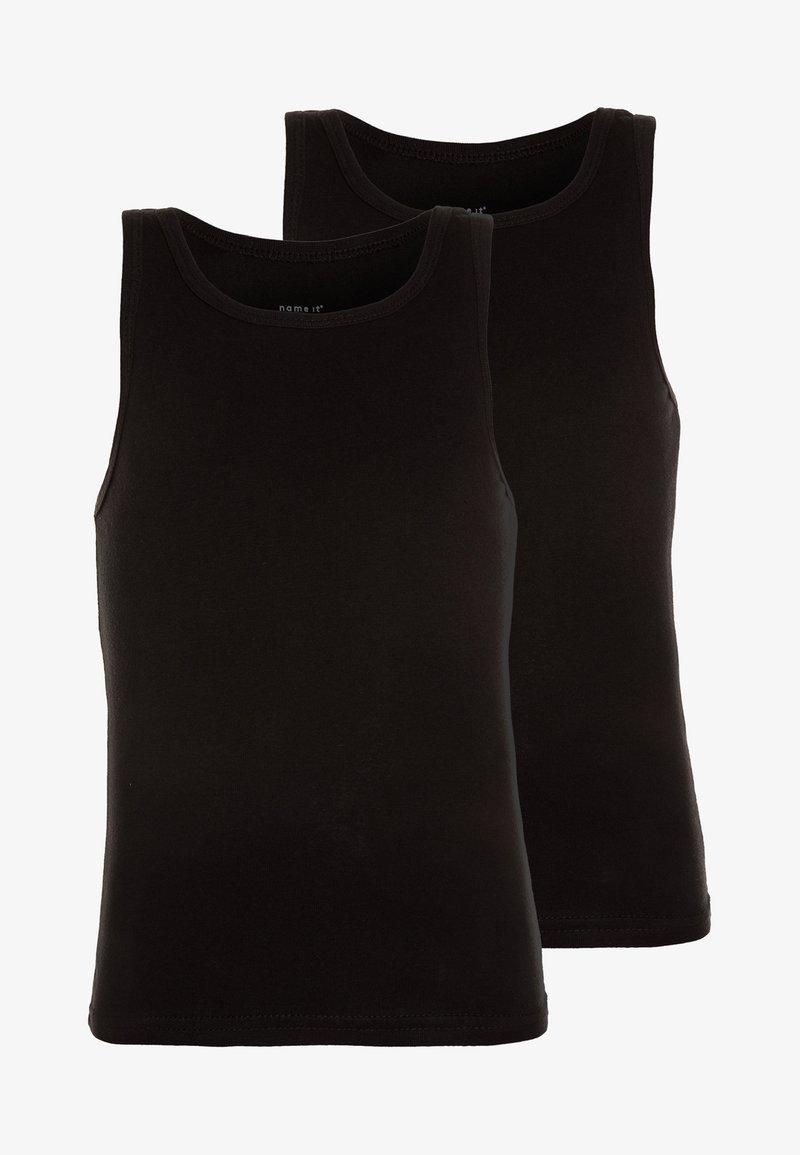 Name it - NMMTANK 2 PACK - Unterhemd/-shirt - black