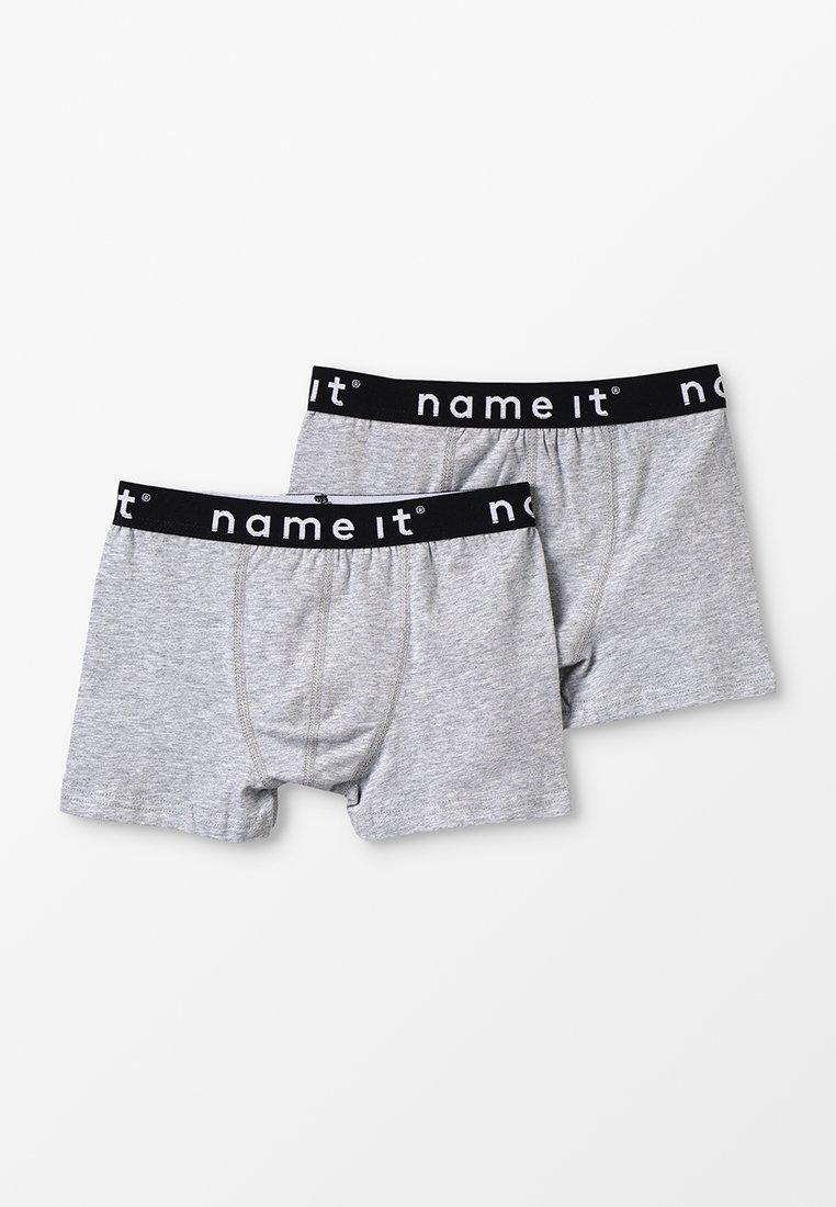 Name it - NKMBOXER SOLID 2 PACK - Panties - grey melange