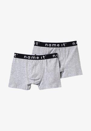 NKMBOXER SOLID 2 PACK - Pants - grey melange