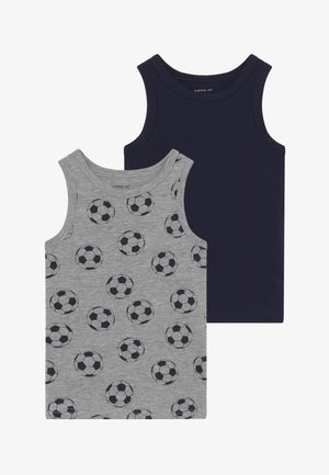 NMMTANK FOOTBALL 2 PACK - Camiseta interior - grey melange