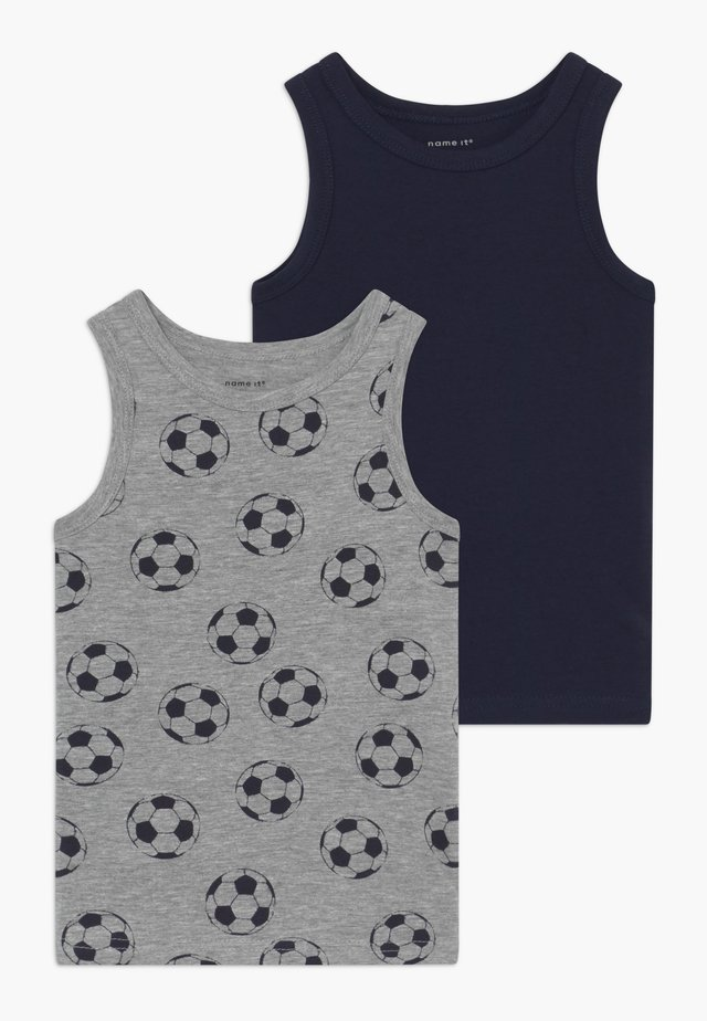 NMMTANK FOOTBALL 2 PACK - Aluspaita - grey melange