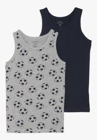 Name it - NKMTANK FOOTBALL 2 PACK - Undershirt - grey melange - 0