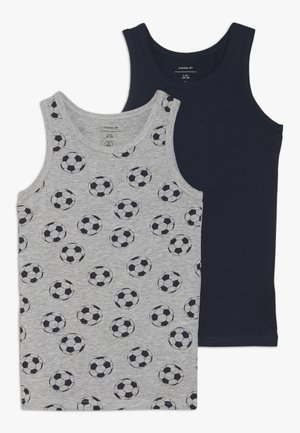 NKMTANK FOOTBALL 2 PACK - Undertrøjer - grey melange