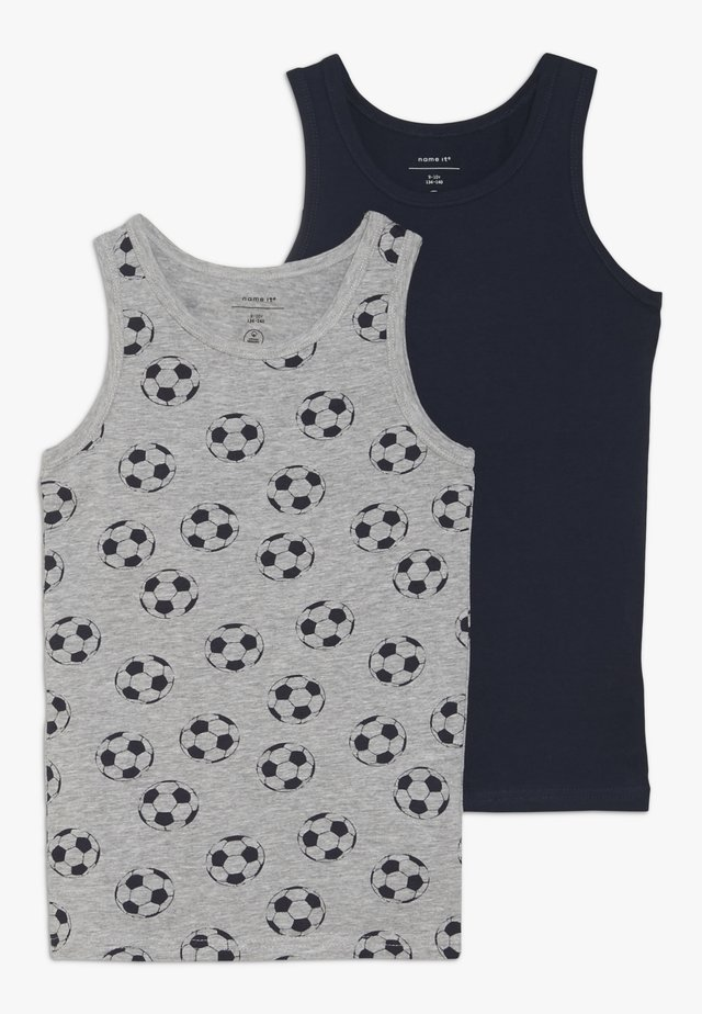 NKMTANK FOOTBALL 2 PACK - Aluspaita - grey melange