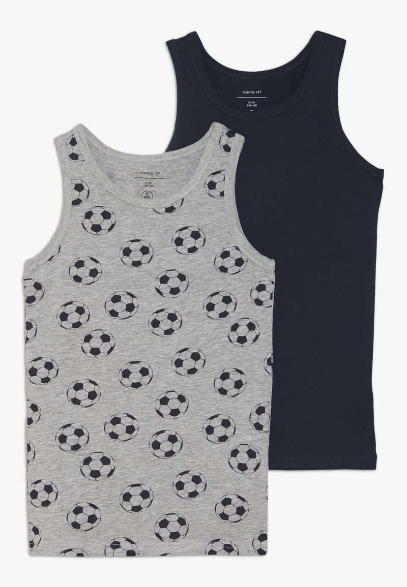 Name it - NKMTANK FOOTBALL 2 PACK - Undershirt - grey melange
