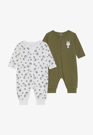 NBMNIGHTSUIT  ZIP 2 PACK - Pyjama - loden green