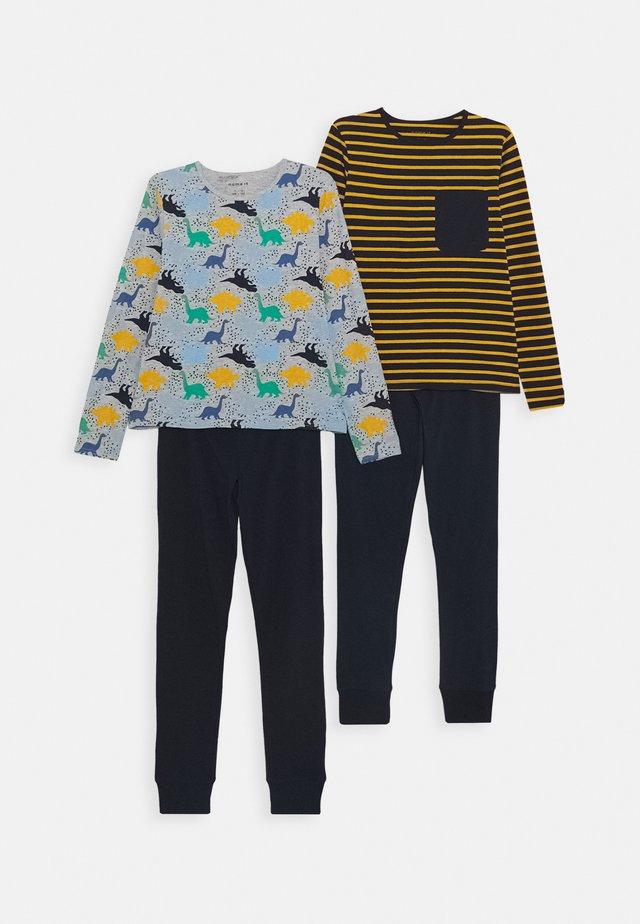 NKMNIGHTSET 2 PACK - Pyjama set - grey melange