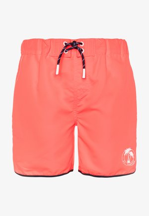 NKMZAIMS SHORTS - Swimming shorts - neon coral