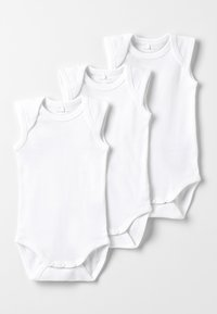 Name it - NBNBODY TANK SOLID BABY BASIC 3 PACK - Body - white - 0