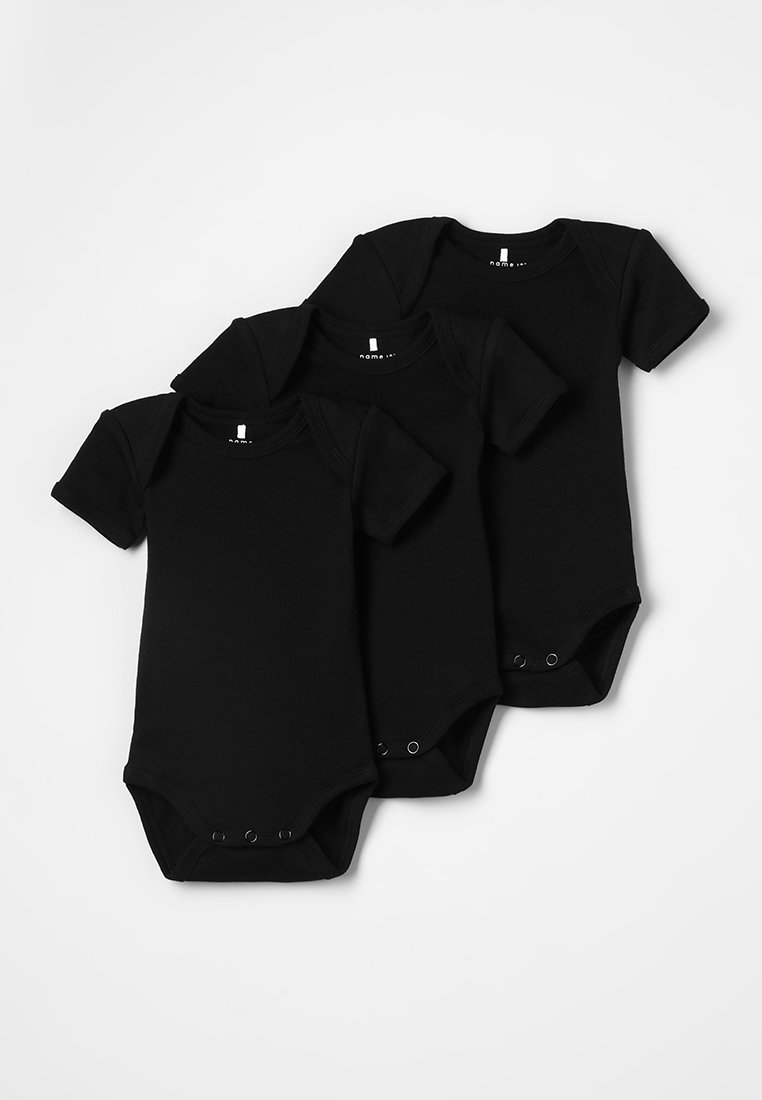 Name it - NBNBODY SOLID BABY BASIC 3 PACK - Body - black