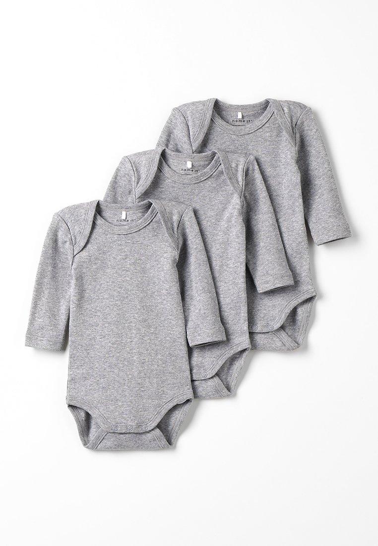 Name it - SOLID BABY BASIC 3 PACK - Body - grey melange