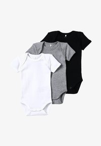 Name it - BABY BASIC 3 PACK - Body - black/white/lightgreymelange - 5