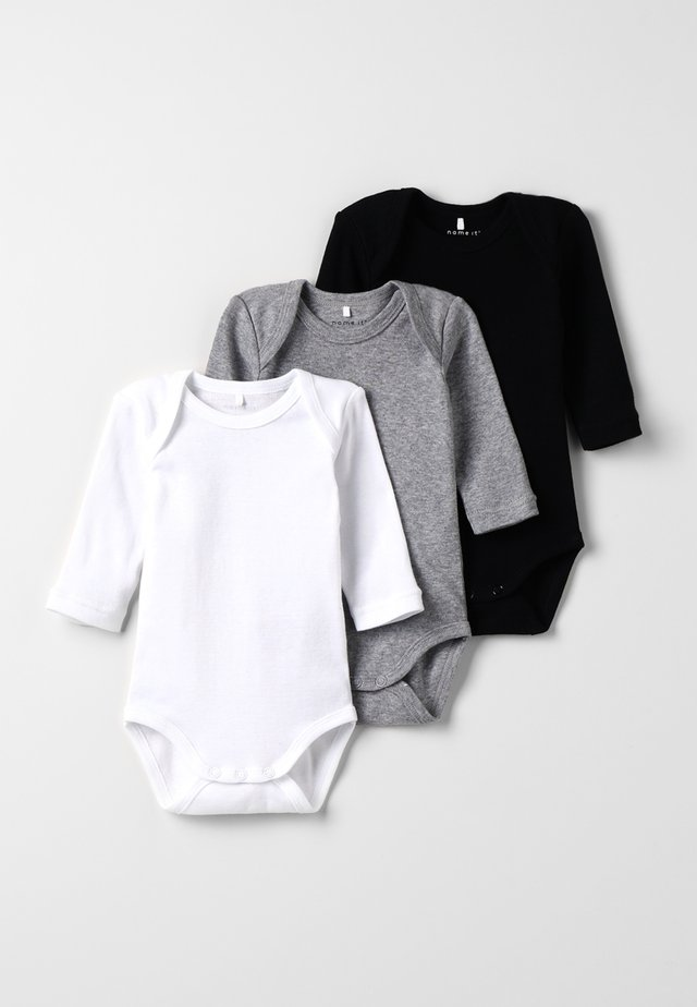 BABY BASIC 3 PACK - Body / Bodystockings - black/white/lightgreymelange