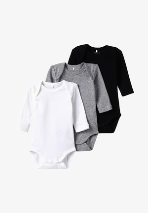BABY BASIC 3 PACK - Body - black/white/lightgreymelange