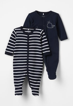 NBMNIGHTSUIT BABY 2 PACK - Pyjamaser - dark sapphire