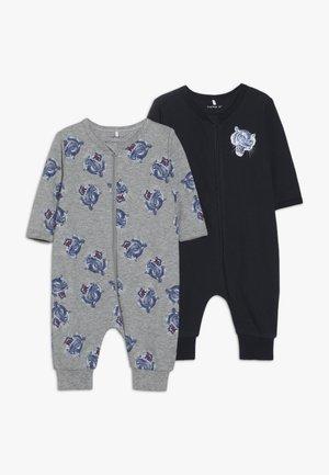 NBMNIGHTSUIT ZIP 2 PACK - Pyjamas - grey melange