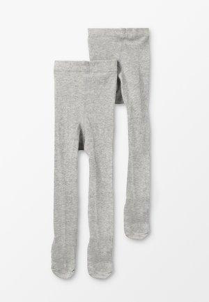 NBFPANTYHOSE BABY BASIC 2 PACK - Panty - grey melange