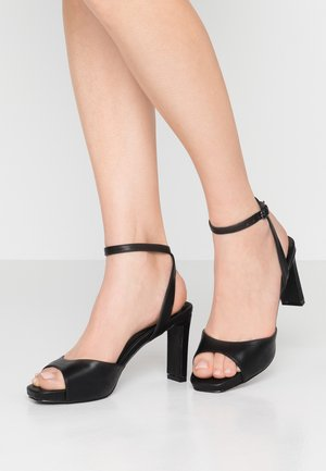 STRAP - High heeled sandals - black
