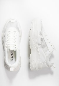 NA-KD - MIX CHUNKY TRAINERS - Joggesko - white - 3