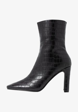 SLIM BOOTS - High heeled ankle boots - black