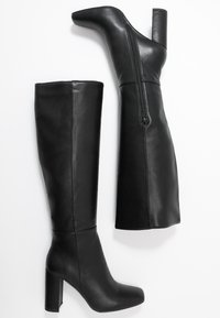 NA-KD - STRAIGHT SHAFT KNEE BOOTS - Laarzen met hoge hak - black - 3