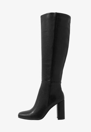 STRAIGHT SHAFT KNEE BOOTS - Boots med høye hæler - black