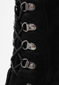 NA-KD - LACE UP KNEE BOOTS - High heeled boots - black - 2