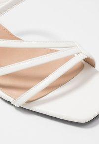 NA-KD - SQUARED STRAPPY  - Mules à talons - white - 2