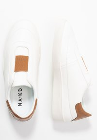NA-KD - TRAINERS - Nazouvací boty - offwhite/butterrum - 3