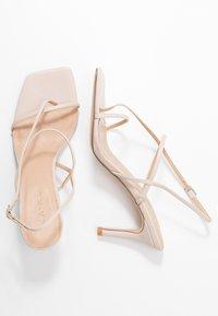 NA-KD - STRAPPY STILETTO - Højhælede sandaletter / Højhælede sandaler - nude - 3