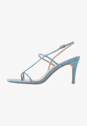 STRAPPY STILETTO - Sandalias de tacón - light blue