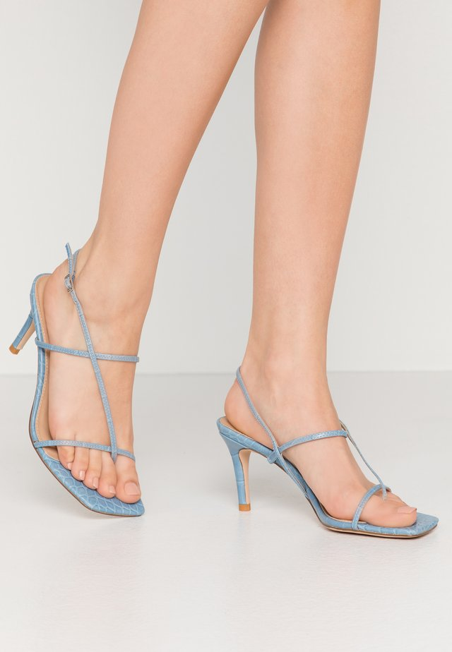 STRAPPY STILETTO - High heeled sandals - light blue