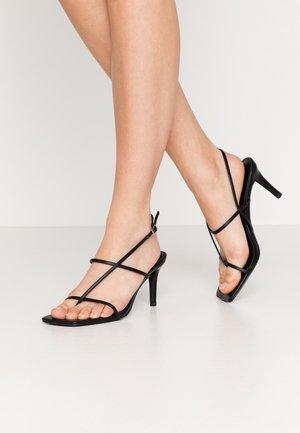 STRAPPY STILETTO - High heeled sandals - black