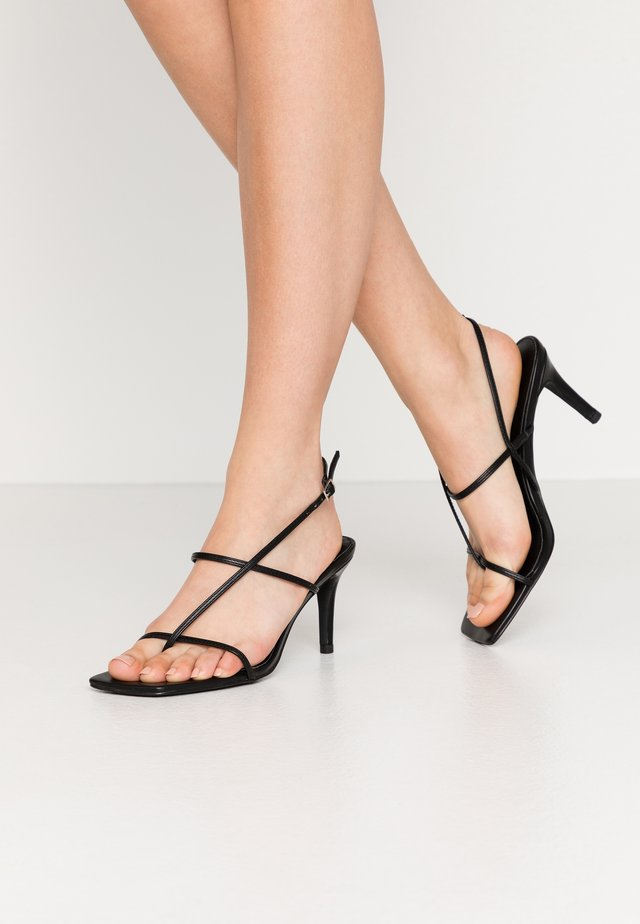 STRAPPY STILETTO - High heeled sandals - black