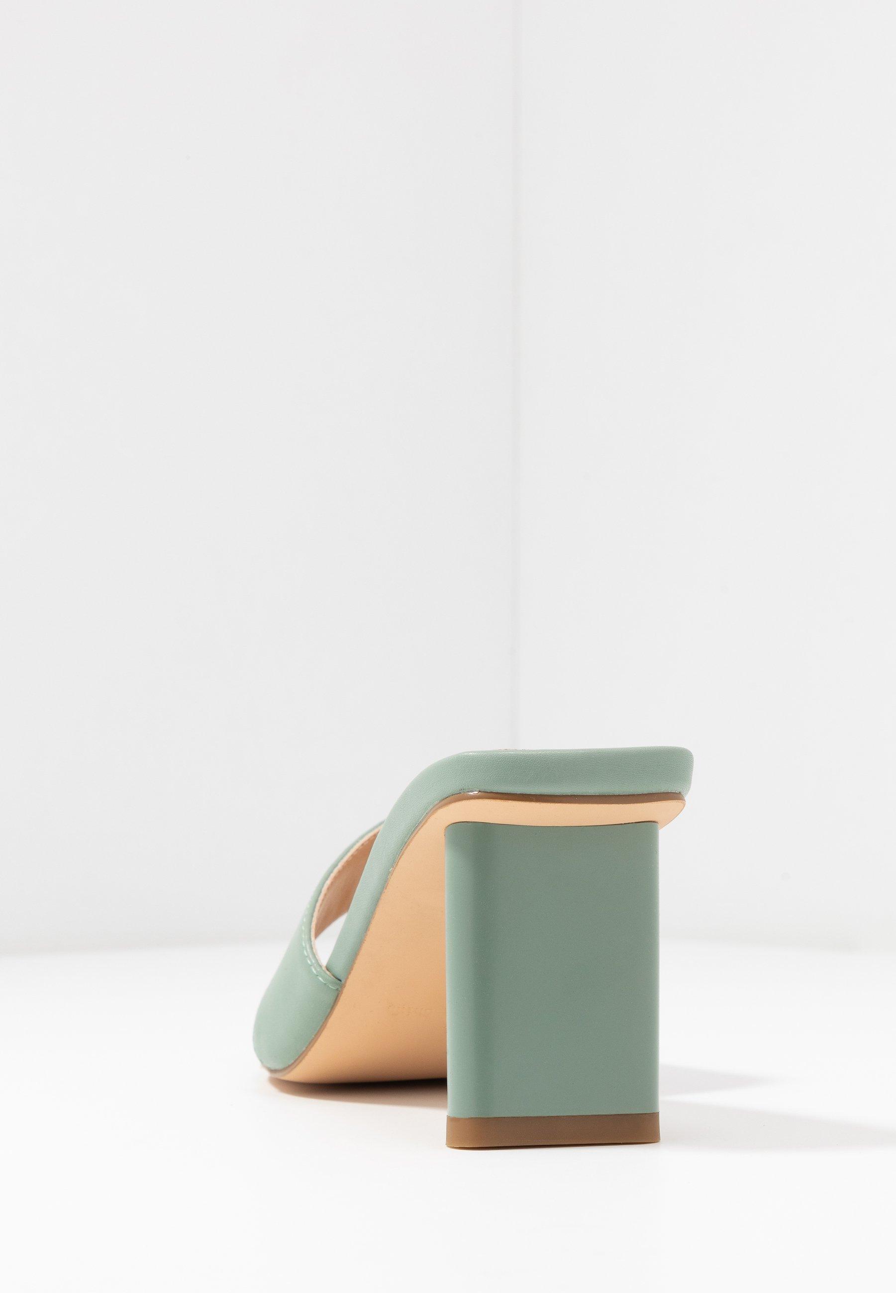 NA-KD TOE STRAP MULES - Sandaler m/ tåsplit - pastel green